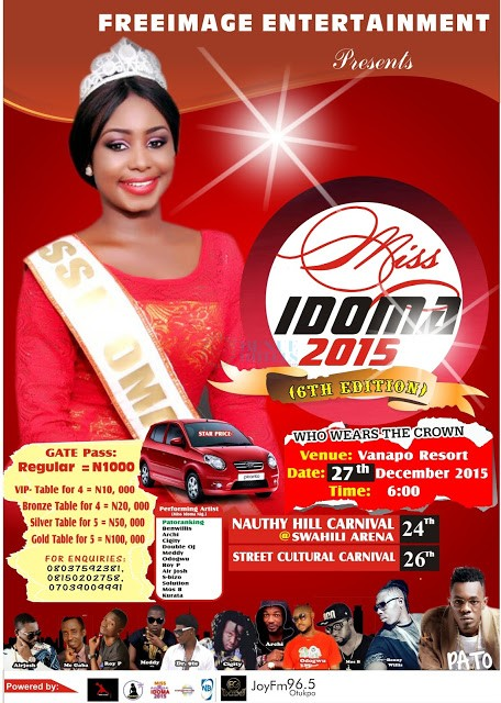 miss idoma 2015 contestants